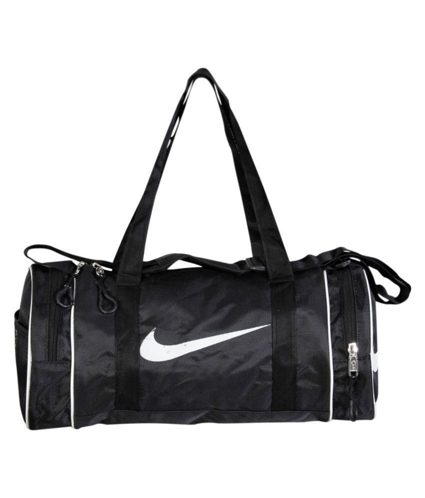 Nike Medium Black Polyester Gym Bag Travel Duffle - Buy Nike Medium Black  Polyester Gym Bag Travel Duffle Online at Low Price - Snapdeal e8120afcb0fb