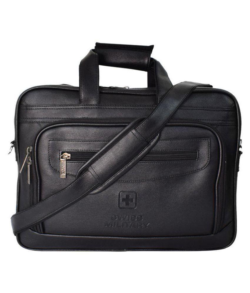 Swiss Military PLB1 Black P.U. Office Bag