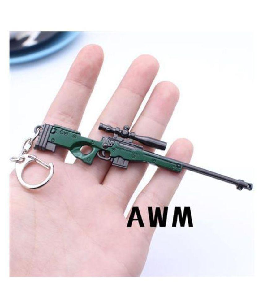 Gamebros Keychains Key Chain Pubg Awm Gun Weapon Model Pendant 20cm