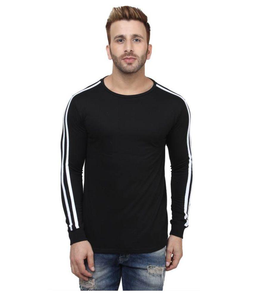 Koutons Black Full Sleeve T-Shirt