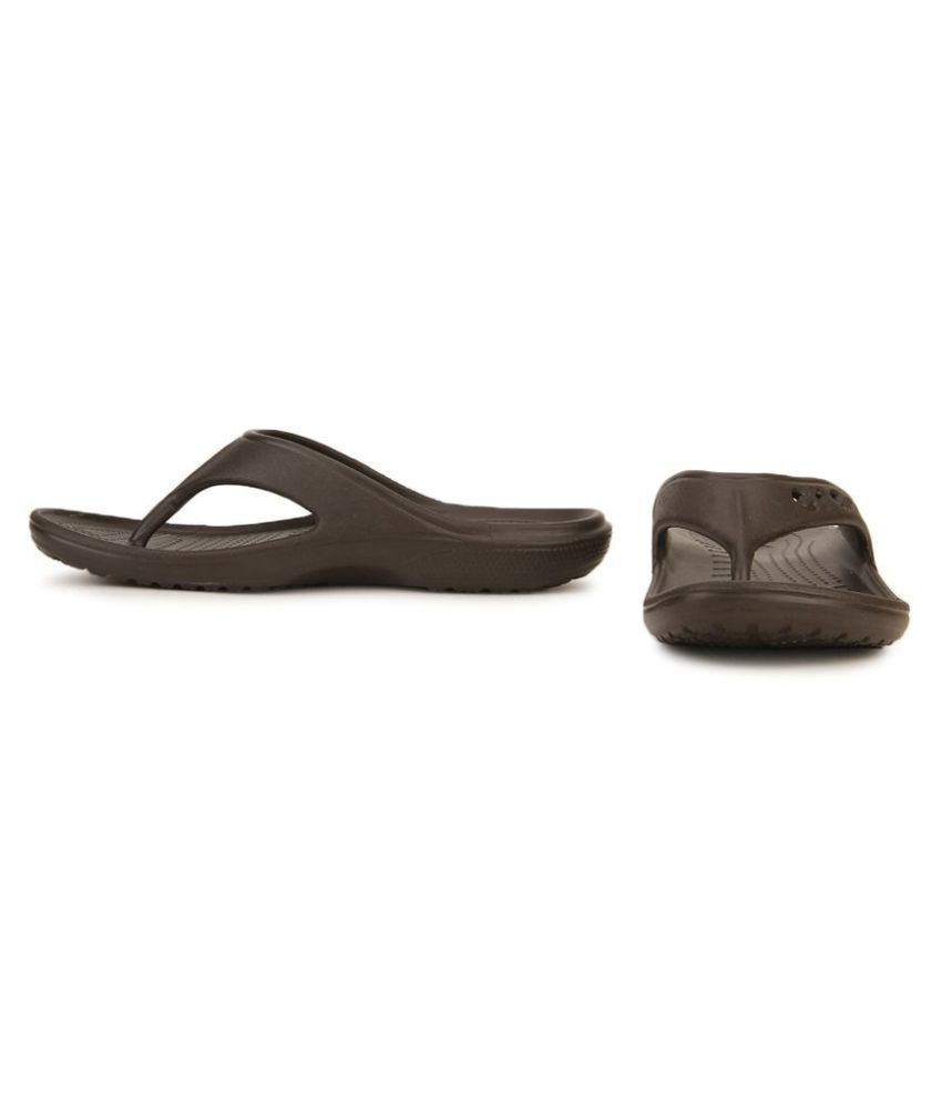 1b4ac33e6 Crocs Brown Daily Slippers Price in India- Buy Crocs Brown Daily ...
