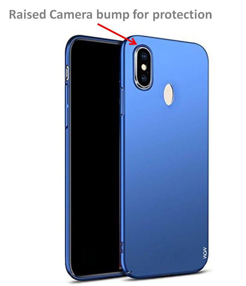 new arrivals 08cc5 51bb3 Xiaomi Redmi Note 5 Pro Plain Hard shell Plastic Cases ClickAway - Blue