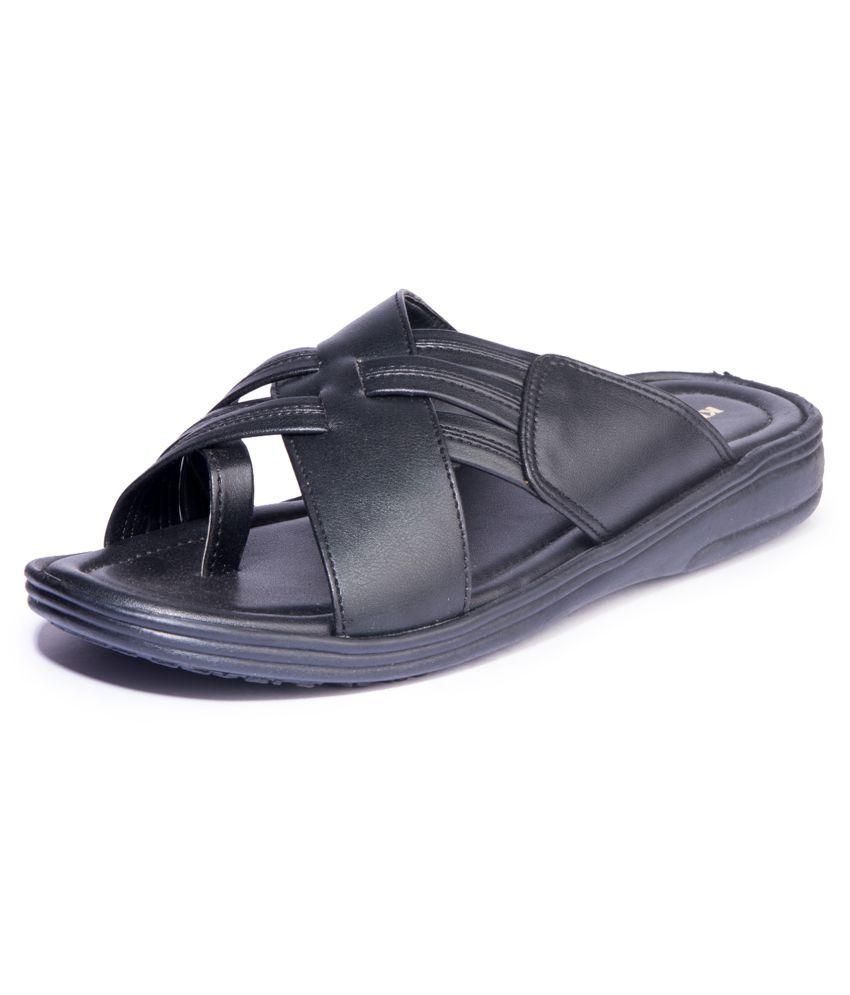 2e032b39c Khadim s Black Synthetic Leather Sandals Khadim s Black Synthetic Leather  Sandals ...