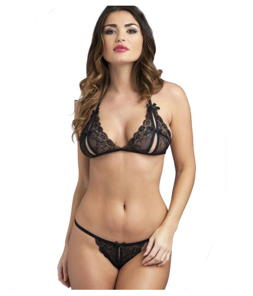 9db445347 Buy Kaamastra Lace Bra and Panty Set Online at Best Prices in India -  Snapdeal
