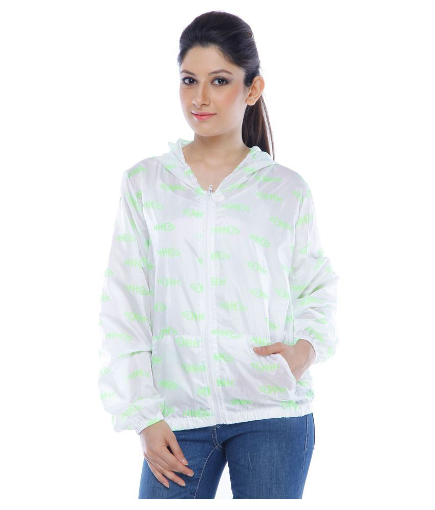 WowObjects Nylon Short Rainwear - White