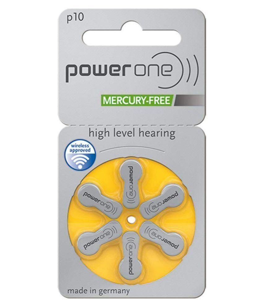 Skyrise PowerOne P 10 Hearing Aid Battery 30 Pcs