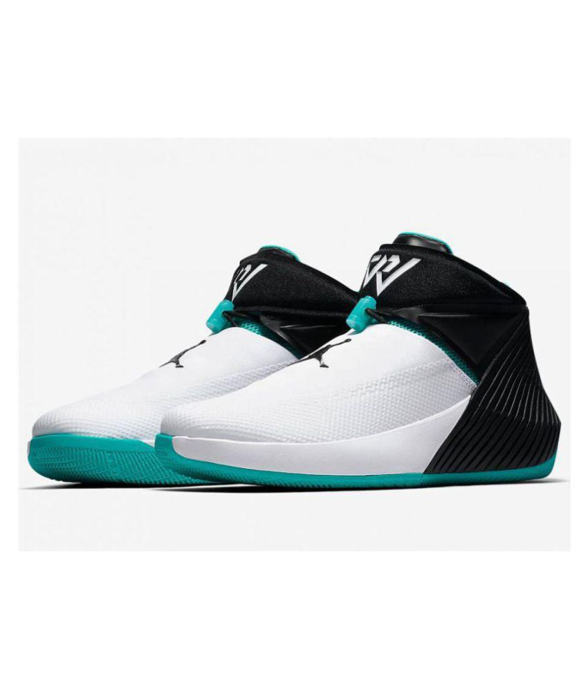 68fb6b7c0181 Nike Nike Air Jordan Why Not 0.1 White Black Blue Low ankle Male White  Buy  Online at Best Price on Snapdeal