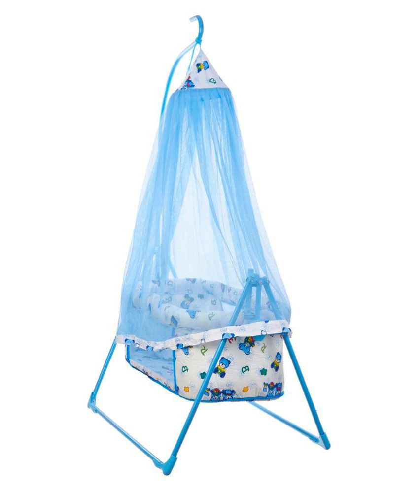 Fun Baby Cozy Dreams New Born Baby Cradle/Baby jhula/Baby palna/Crib / Bassinet with Mosquito Net