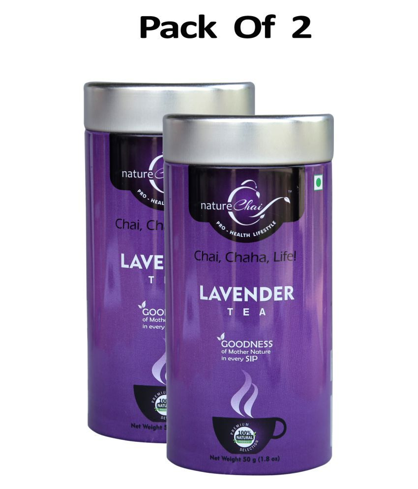 nature Chai Lavender Tea Loose Leaf 50 gm Pack of 2