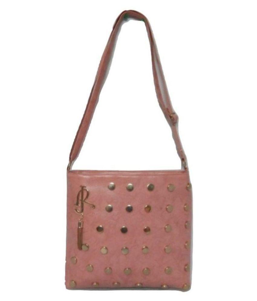 Arjun Golden Brown Faux Leather Sling Bag