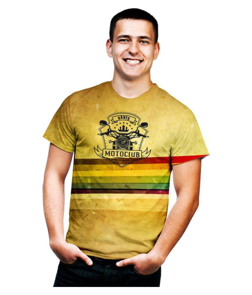 Raves Yellow Half Sleeve T-Shirt