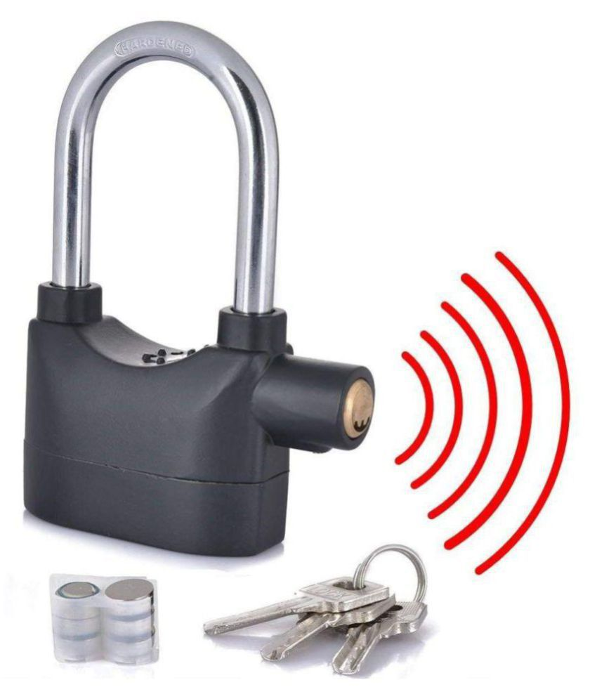 LUCRIA Anti Theft Burglar Pad Alarm Lock with Motion Sensor Security Home Office and Bike Bicycle Shop