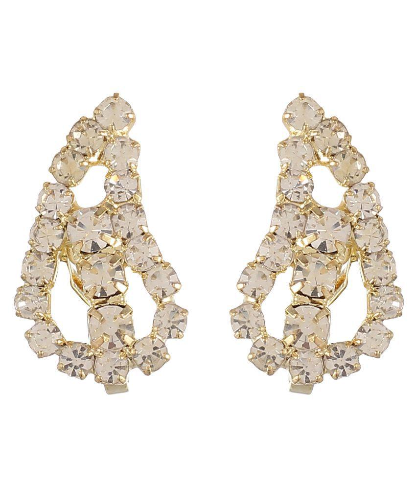 FirstBlush Non Piercing Clip-on Earrings for Non Pierced Ear for Girls/Women