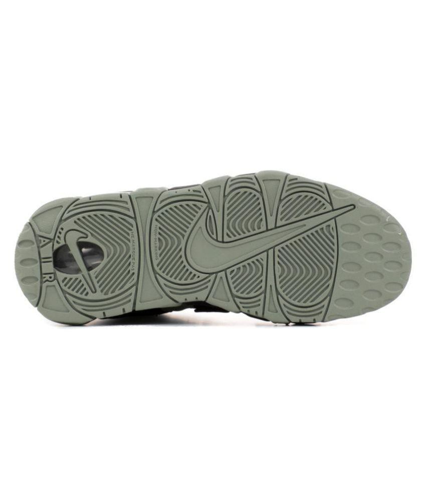 944f9b048e99b ... Nike AIR MORE UPTEMPO (GS) MILITARY Gray Basketball Shoes. Hover to zoom