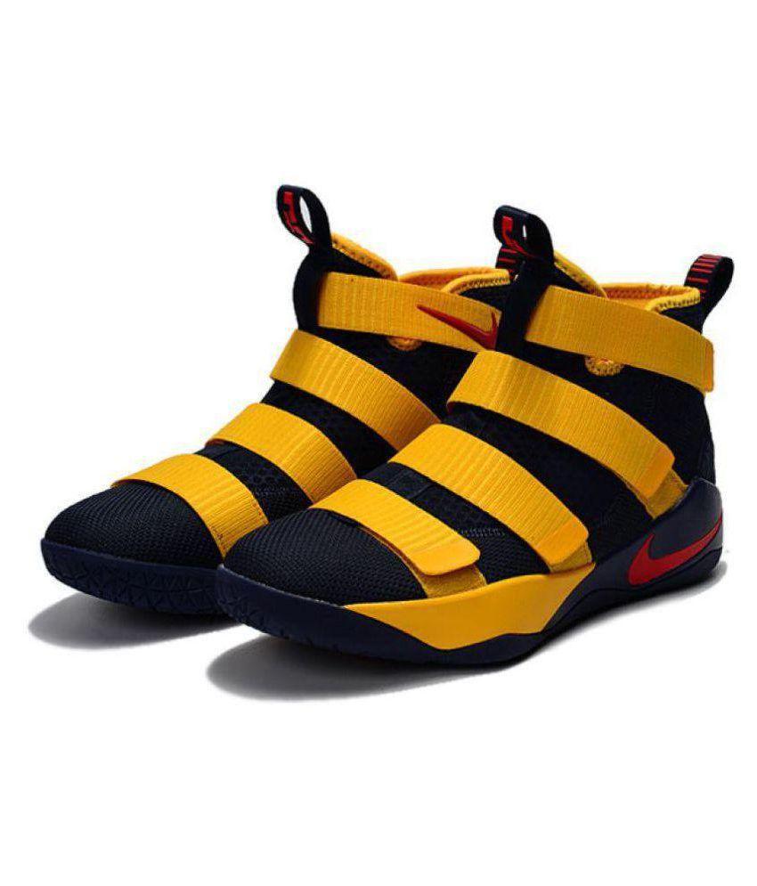 los angeles 49413 55e3b Nike Nike Lebron Soldier 11 Blue Yellow Midankle Male Blue
