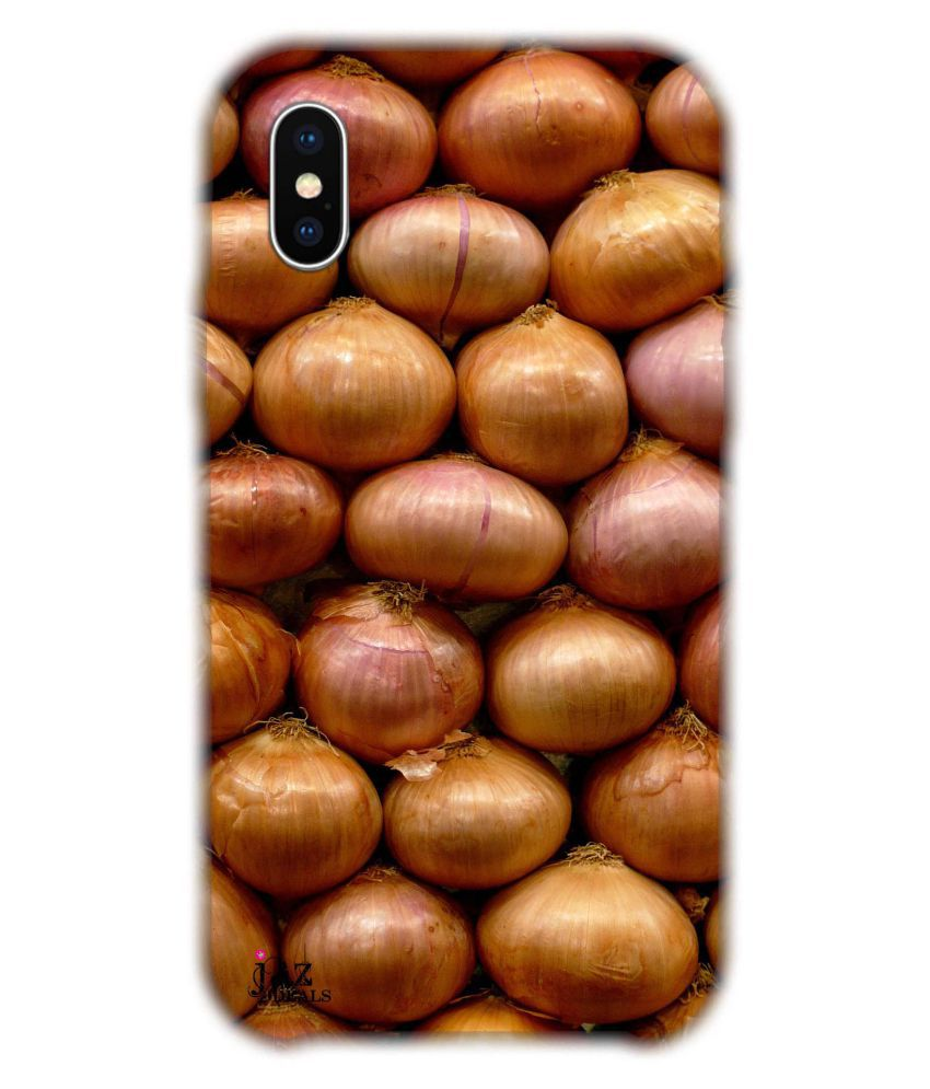 Apple iPhone XS Printed Cover By Jaz Deals Onion Print Hard Cover