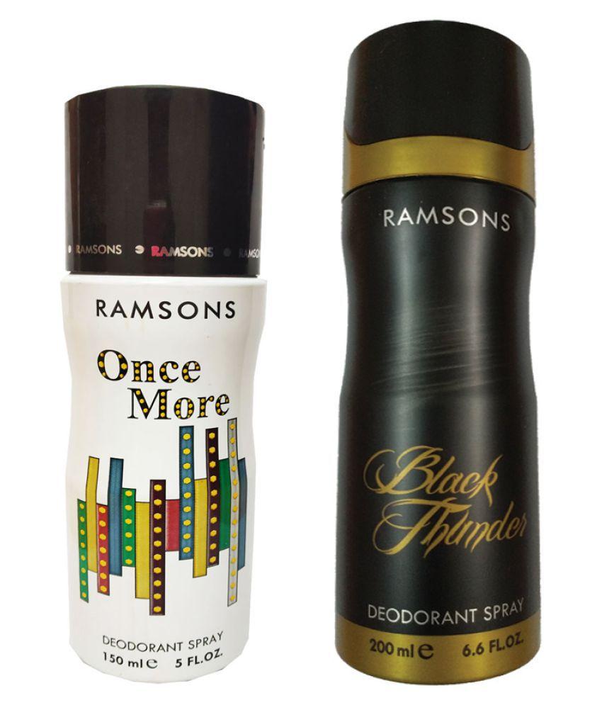 RAMSONS ONCE MORE DEODORANT SPRAY 150ML+RAMSONS BLACK THUNDER DEODORANT SPRAY 200ML