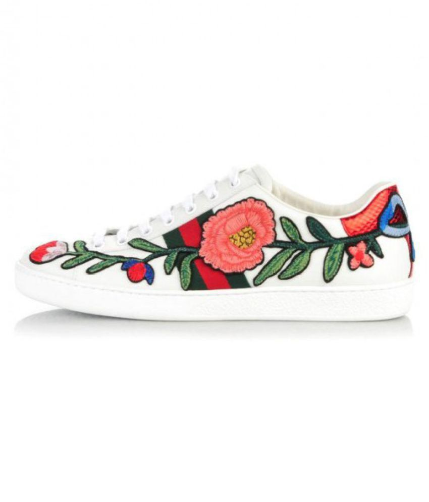 ae88efbfd46 Gucci White Casual Shoes Price in India- Buy Gucci White Casual Shoes  Online at Snapdeal