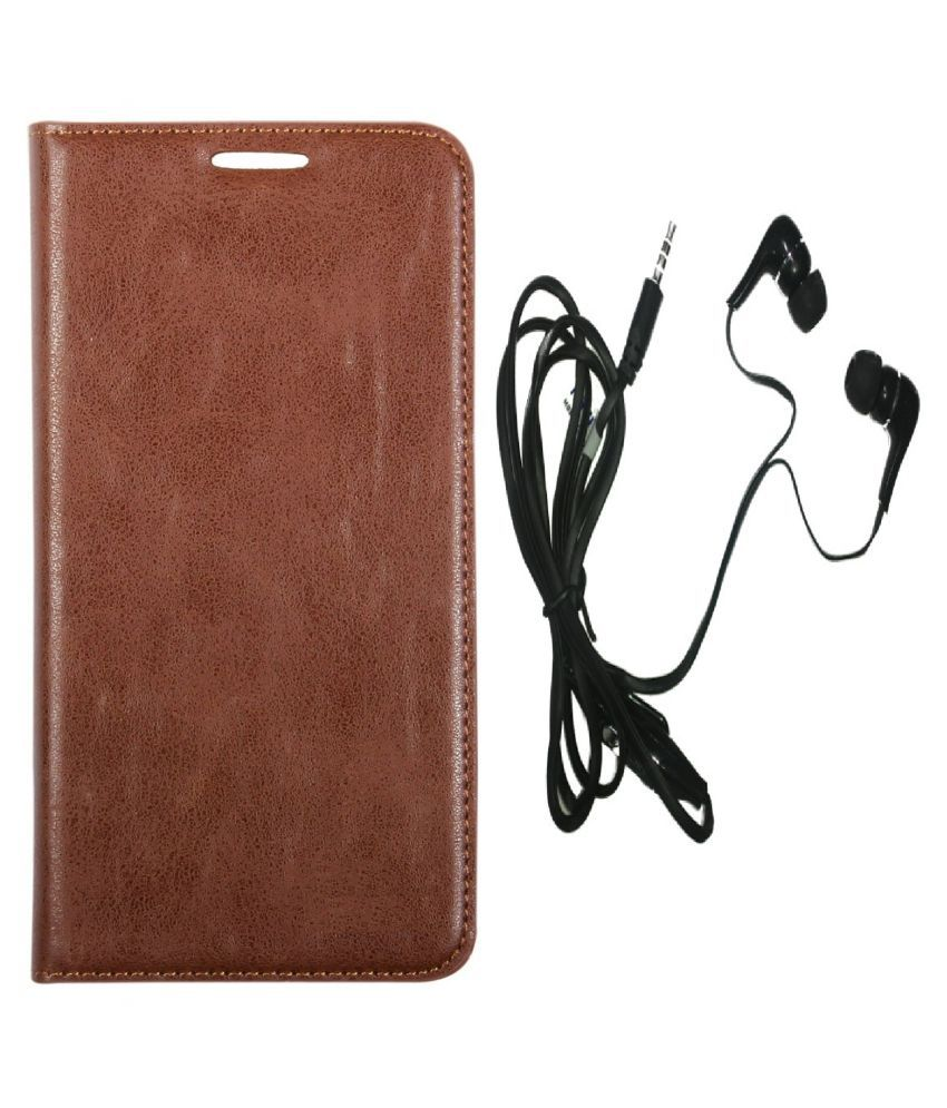 Oppo F5 Cover Combo by MuditMobi Leather Flip Cover Combo