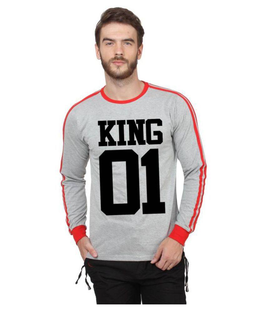 Koutons Grey Full Sleeve T-Shirt