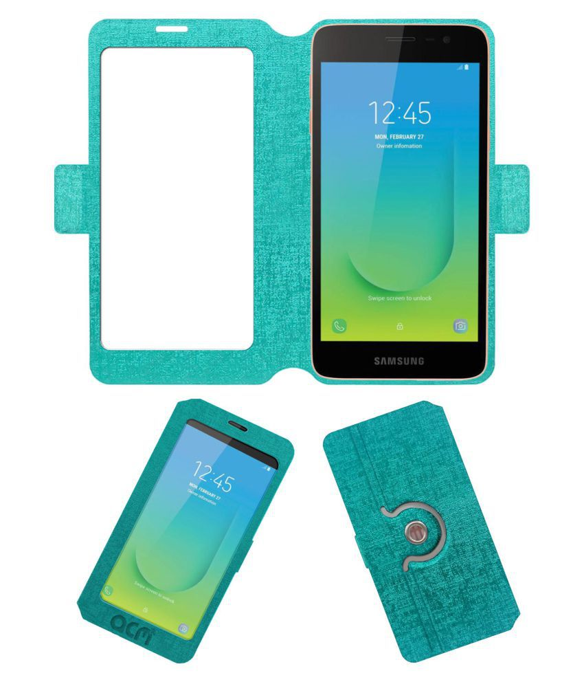 Samsung Galaxy J2 Core Flip Cover by ACM - Blue Dual Side Stand