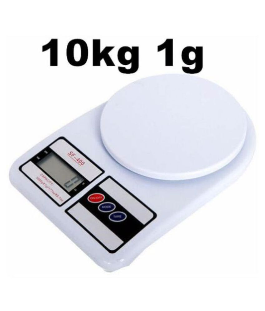 Indiano Electronic Digital Kitchen Weighing Scale 10 Kg SF400 WHITE