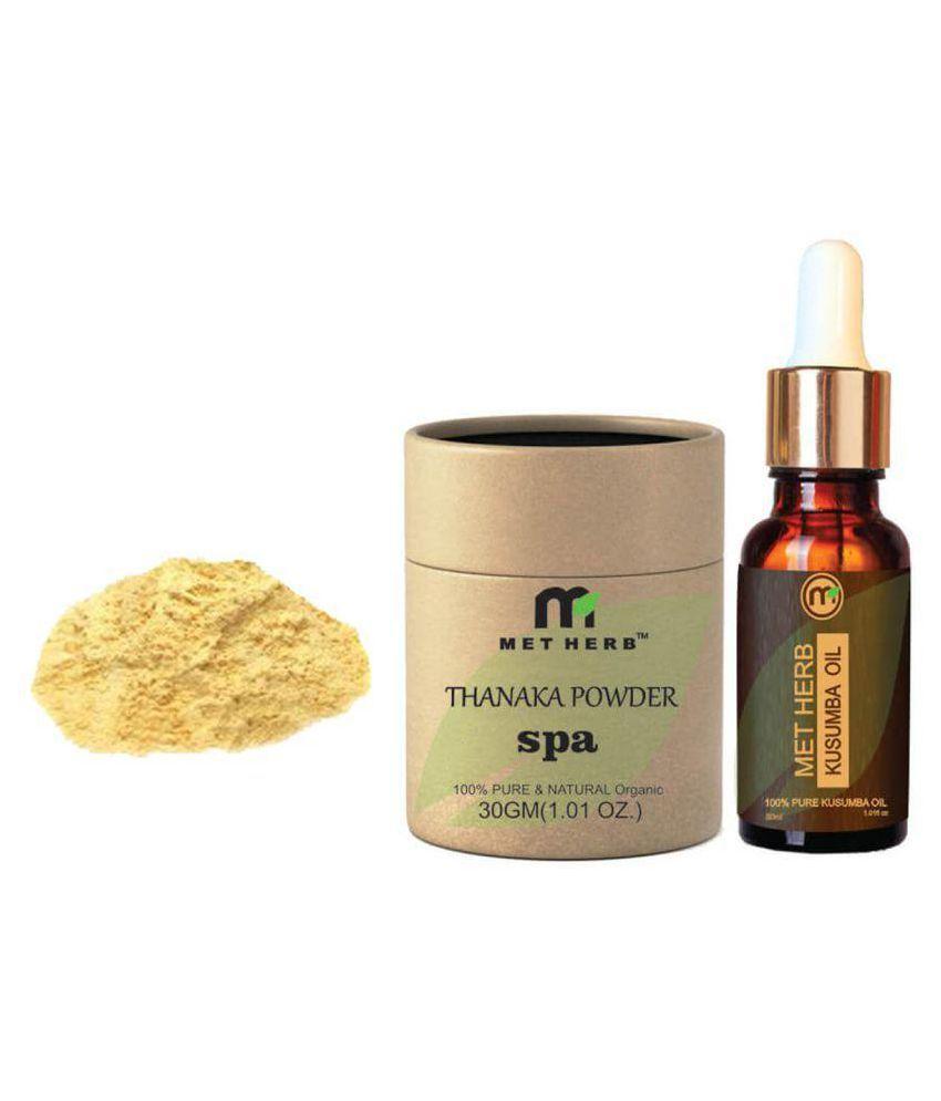 metherb Facial Kit Thanaka powder 30g & Kusumba oil 30 ml