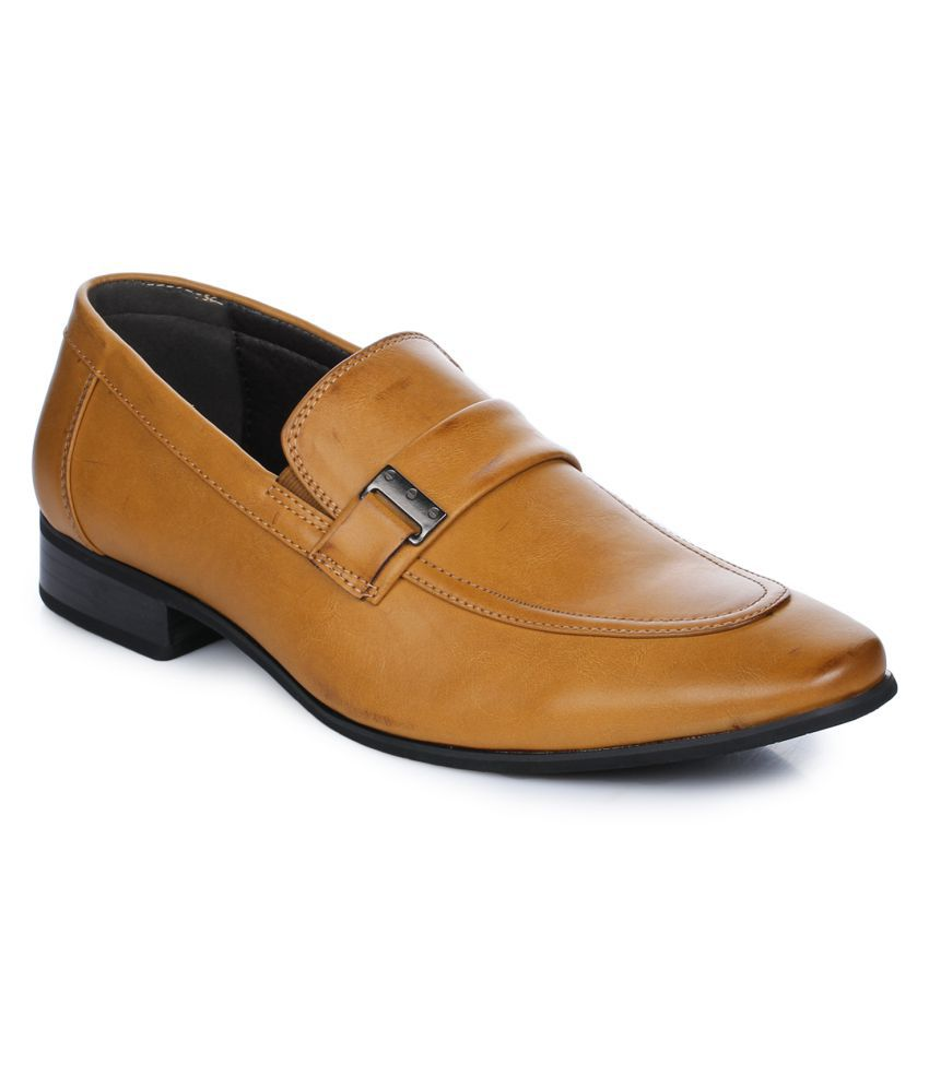 Aber & Q Office Genuine Leather Brown Formal Shoes
