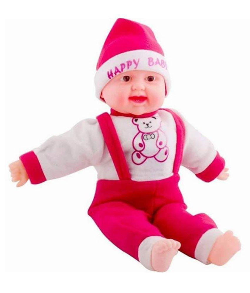 atorakushon Laughing Baby Stuffed Soft Plush Happy Baby Boy girl