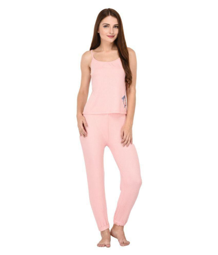 0eddeede4ad Buy YAYA Cotton Nightsuit Sets - Pink Online at Best Prices in India -  Snapdeal