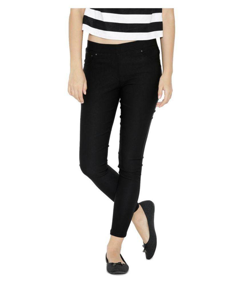 Westwood Cotton Lycra Jeggings - Black