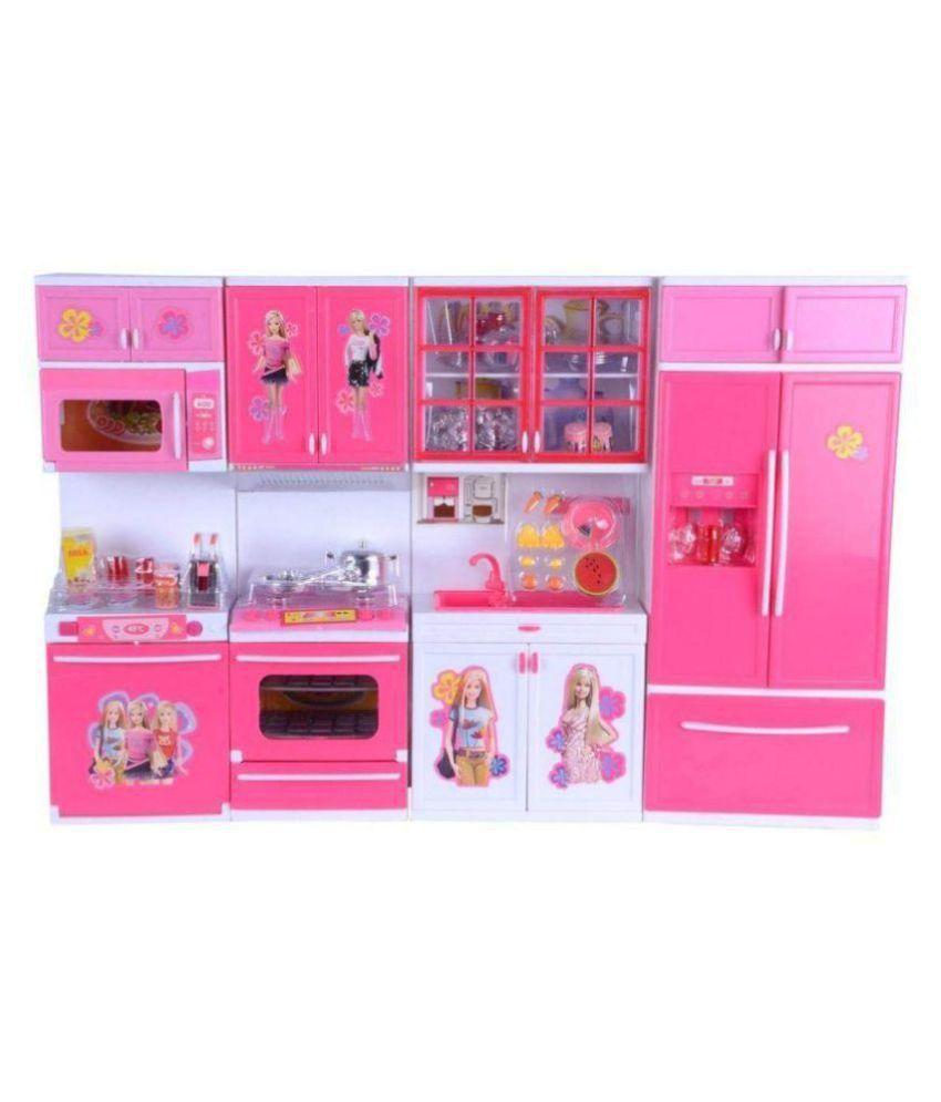 J K International Barbie Dream House Kitchen Set Light