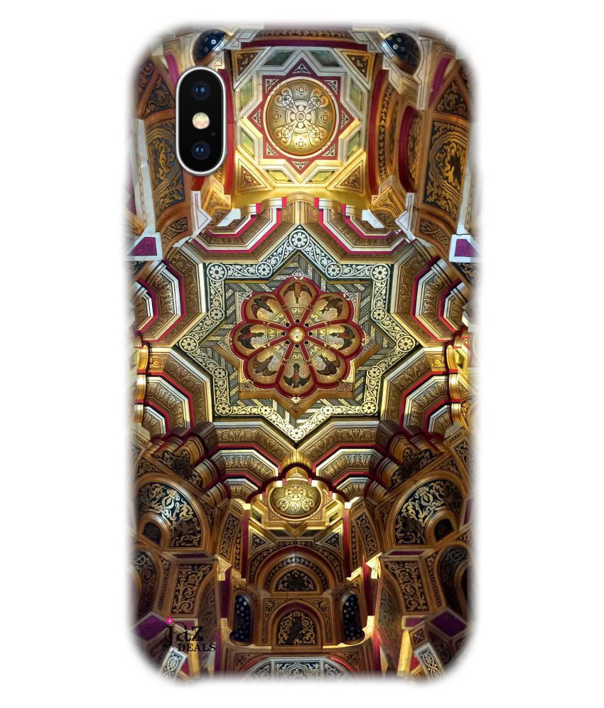 Apple iPhone X Printed Cover By Jaz Deals Roof Abstract Print Hard Cover