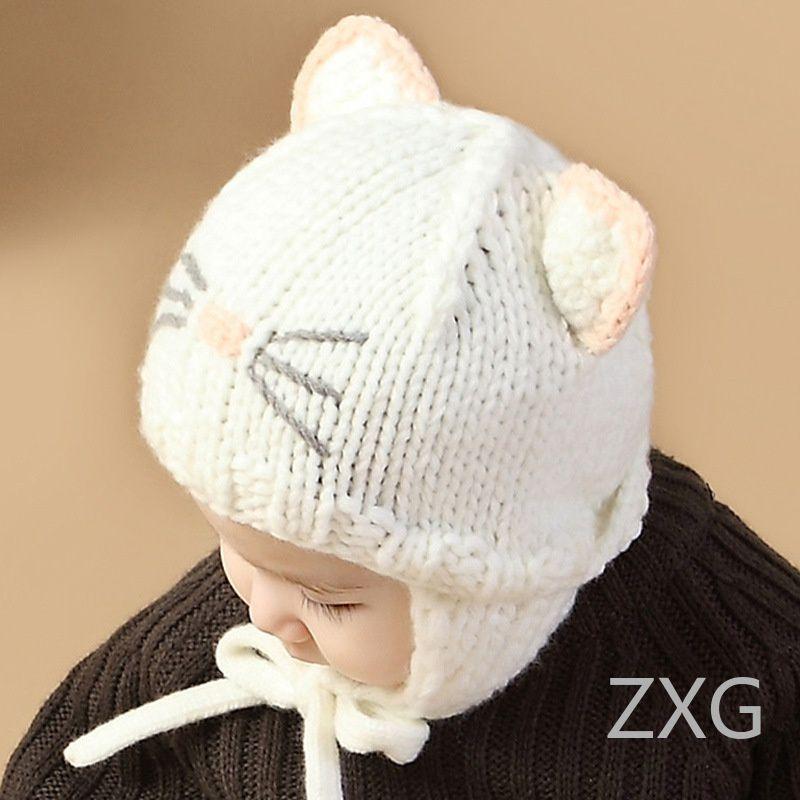 Kids Hats Cute Cap For Girls Boys Children Winter Hat Thick