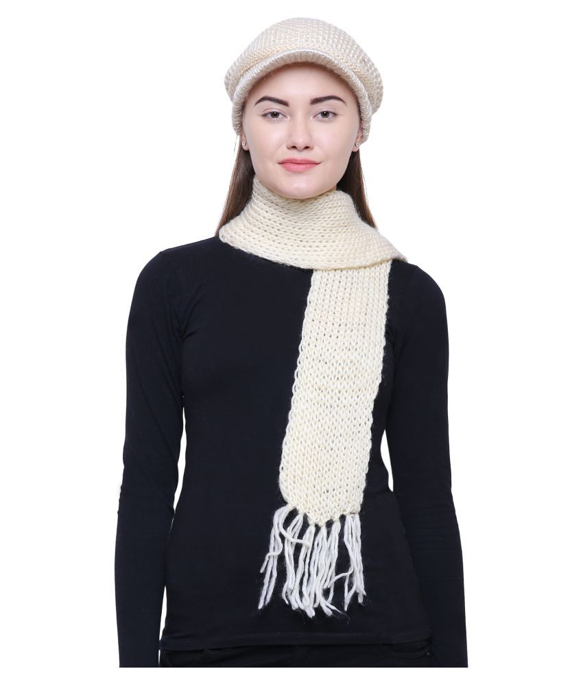 959a67705 Loom Legacy Women s Combo pack of Winter Woolen Cap with Muffler  Buy  Online at Low Price in India - Snapdeal
