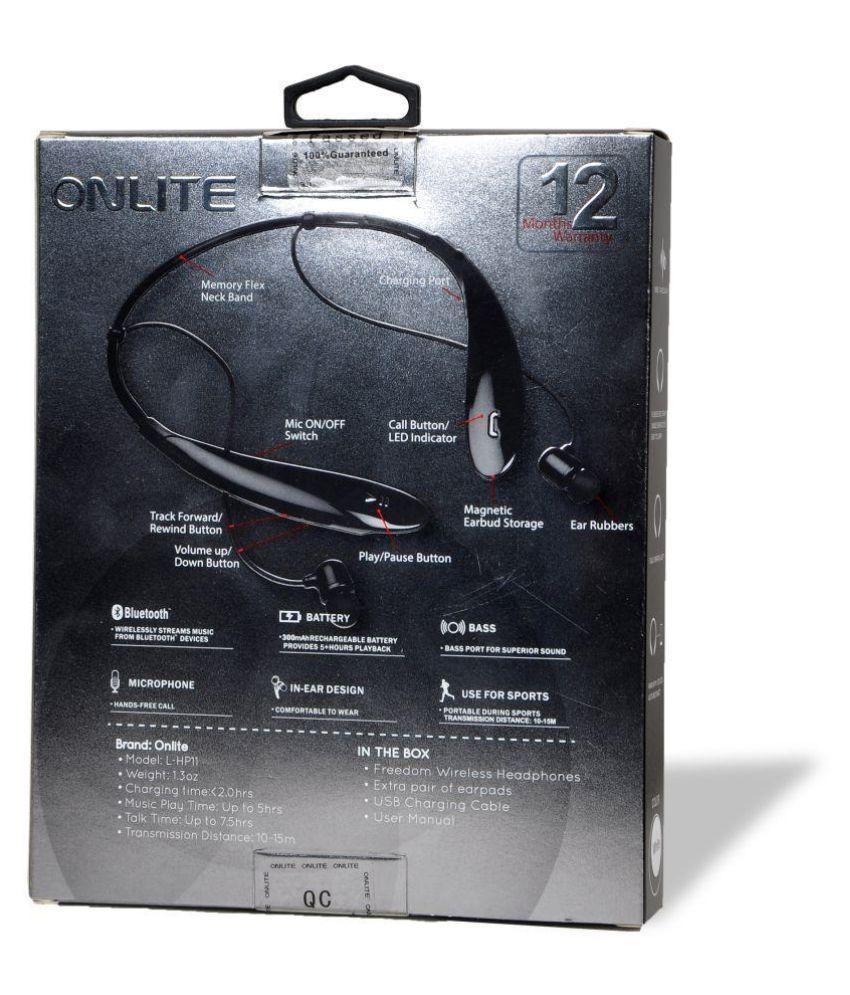 3e76213c878 Onlite L -HP11 wireless Bluetooth Headset - White - Bluetooth ...