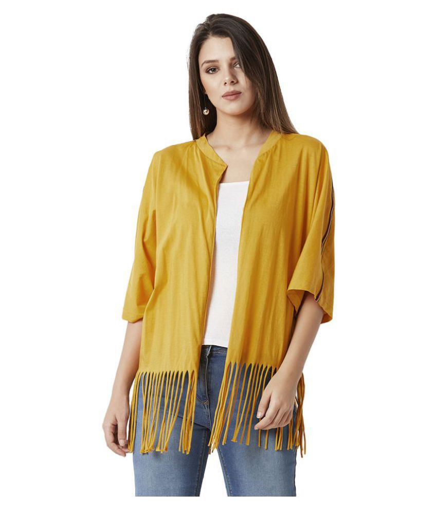 Miss Chase Cotton Shrugs - Yellow