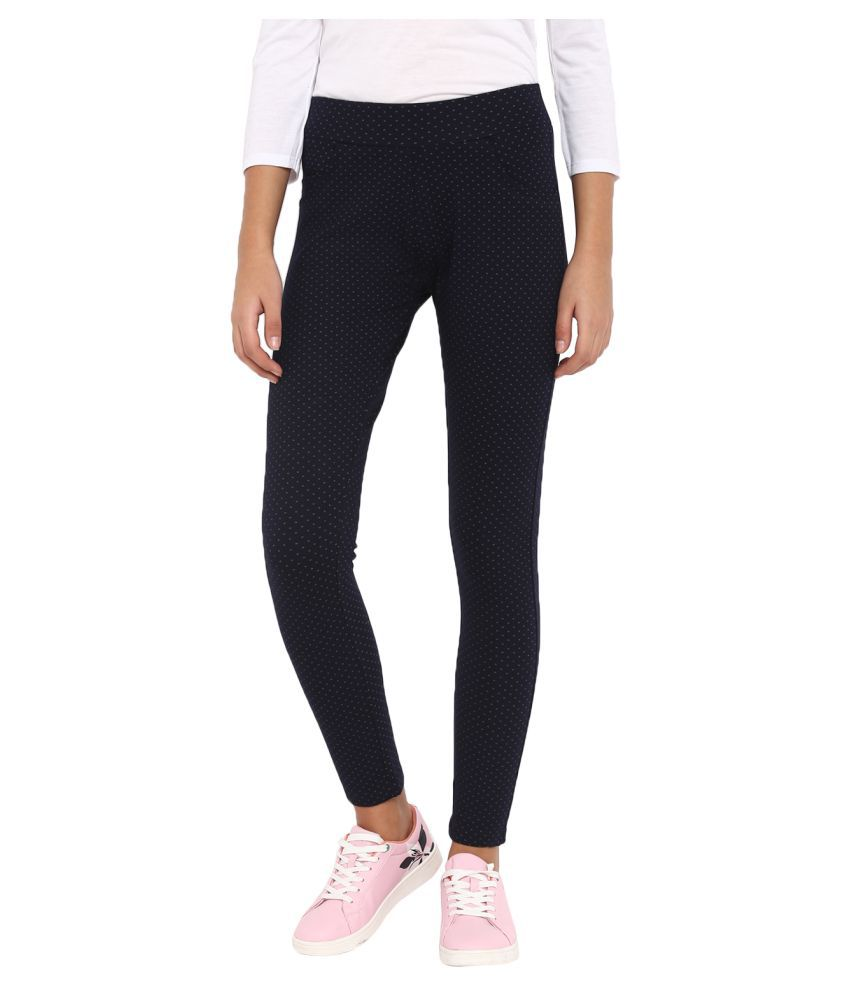 Monte Carlo Cotton Jeggings - Navy