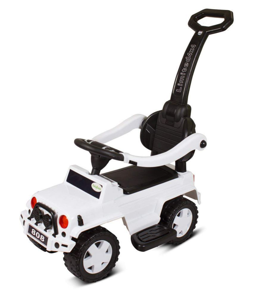 Baybee Power wheels Jeep Wrangler I Ride On Push Car Toy I Suitable for  Boys & Girls (White)