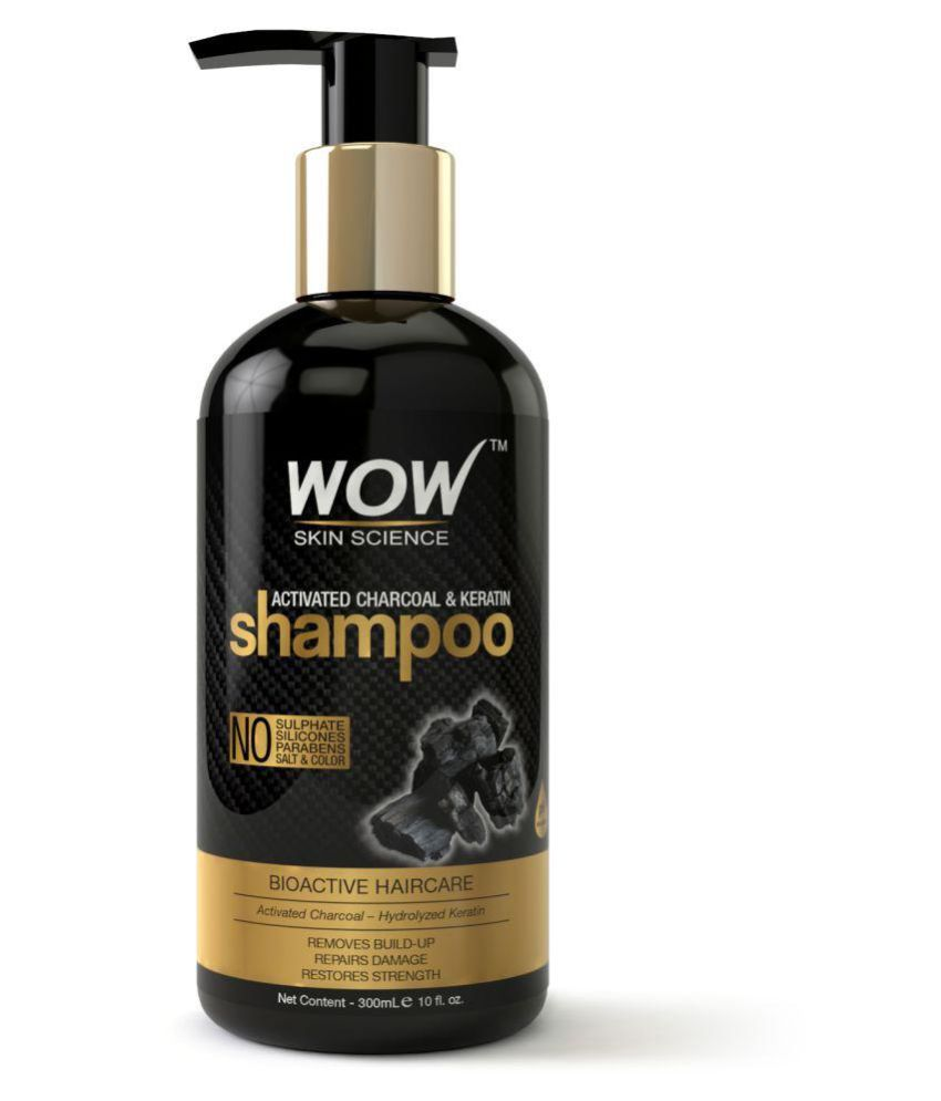 WOW Skin Science Activated Charcoal & Keratin Shampoo 300 ml