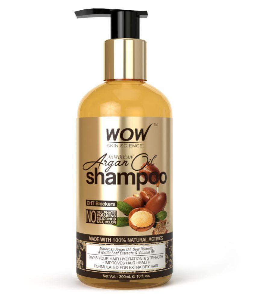 WOW Skin Science Moroccan Argan Oil (with DHT Blocker) Shampoo 300 ml