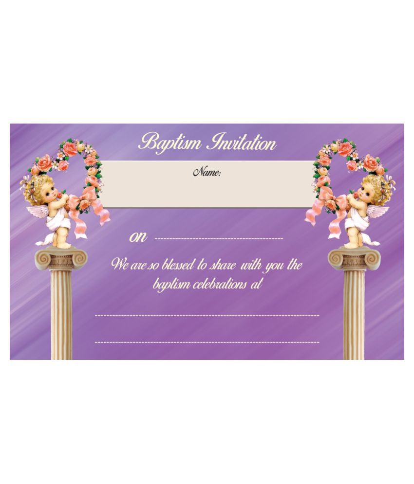 Baptism Or Christening Themed Cards - Fill in Style(Pack of 36)