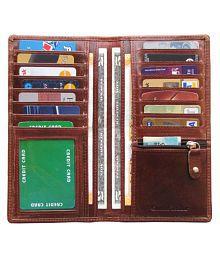 ABYS Bi-Fold Maroon Card Holder