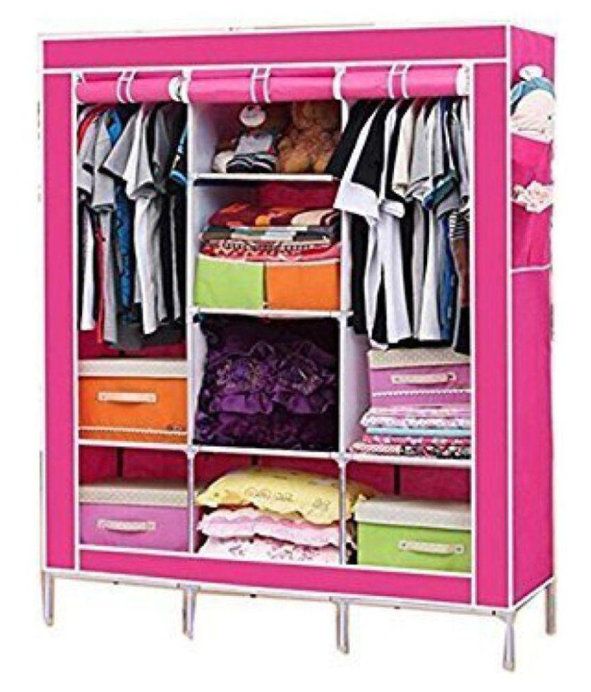 3 door 88130 almirah home basics folding wardrobe cupboard buy 3 rh snapdeal com