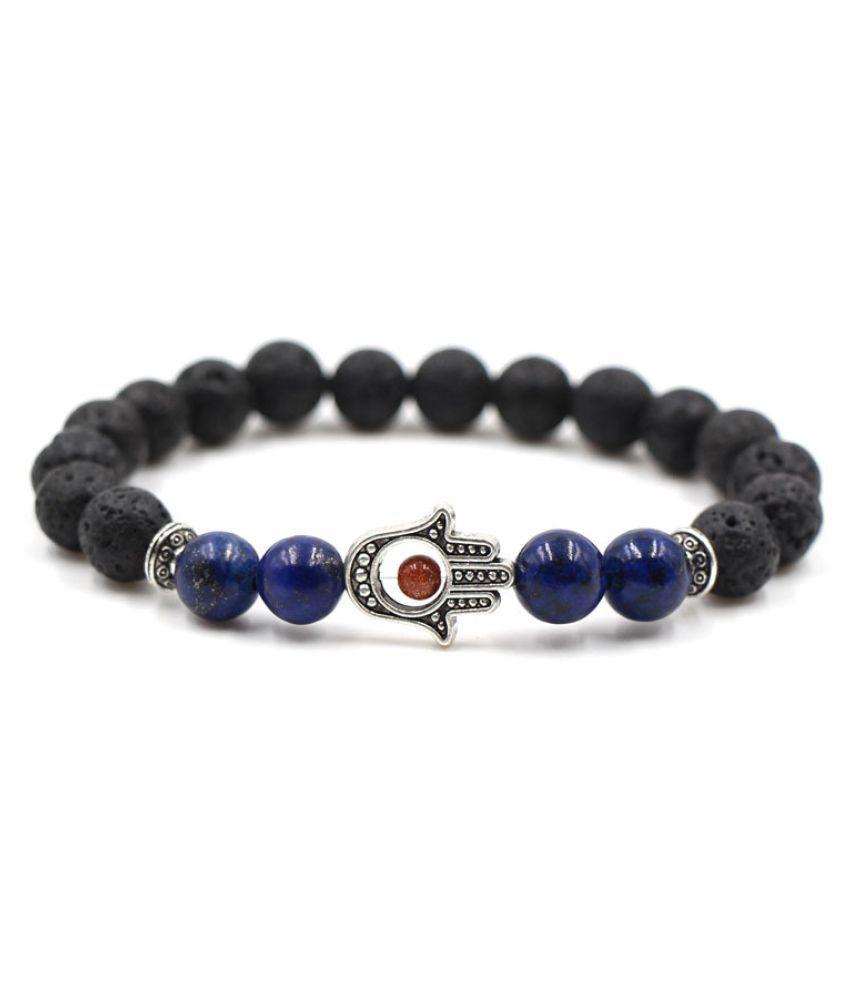 YOLO Black Beaded Bracelets Simple Classic Stone Bead Charm Bracelets & Bangles For Men/Women Jewelry Gift Fashion Geometric