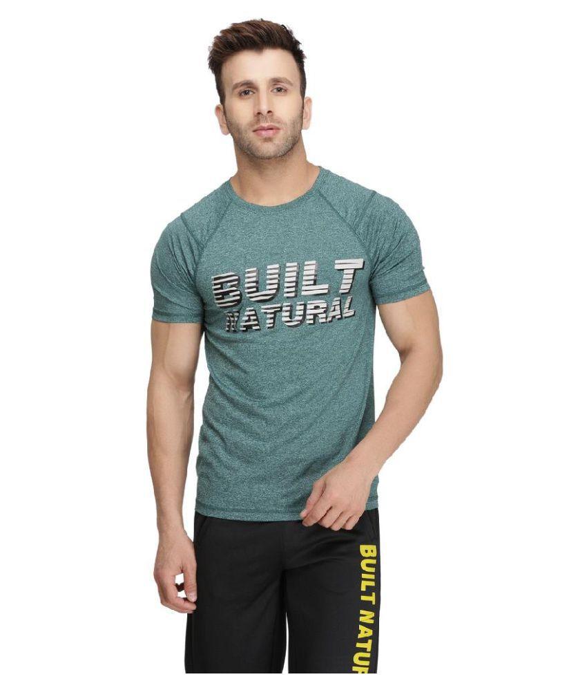 BUILT NATURAL Green Cotton T-Shirt Single Pack