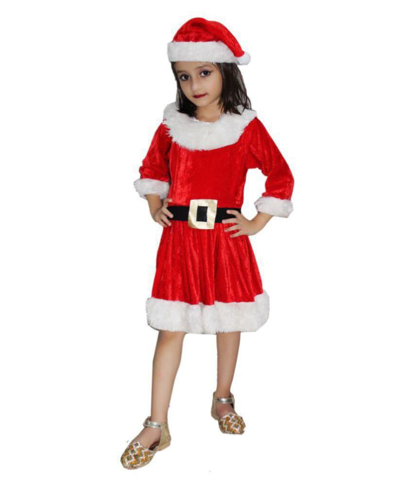 a66eaea83990 KFD Santa Girl fancy dress for kids,Christmas Day costume for annual  function/theme party/competition/Stage Shows/Birthday Party Dress - Buy KFD  Santa Girl ...