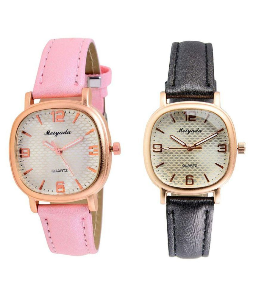 Leather Square Womens Watch