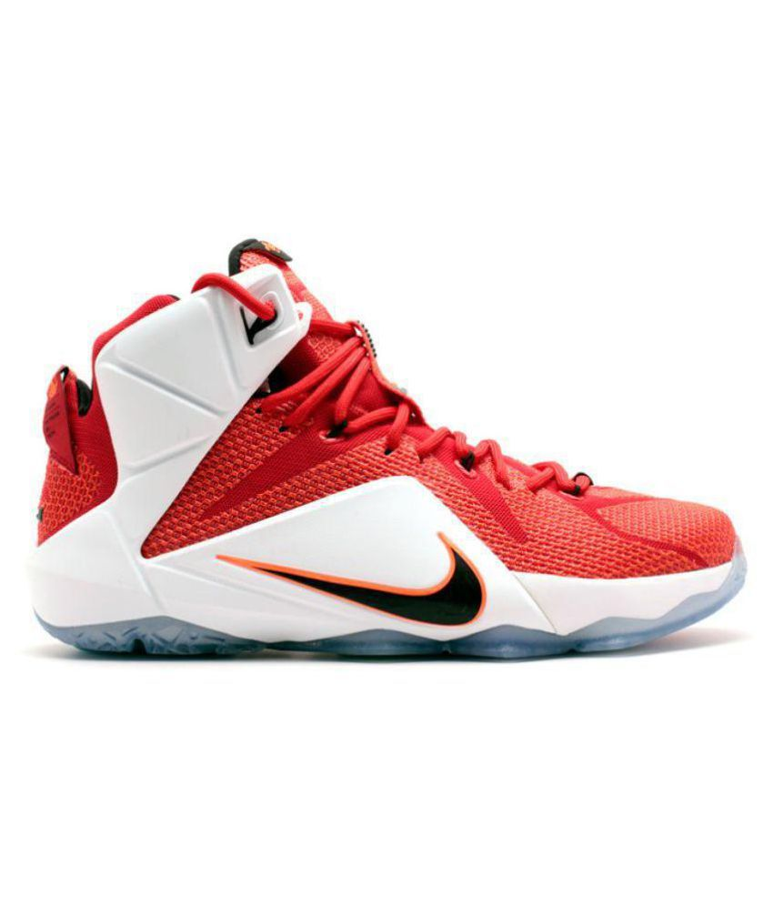 official photos 89259 93a6e Nike Lebron 12 Red Basketball Shoes - Buy Nike Lebron 12 Red Basketball  Shoes Online at Best Prices in India on Snapdeal