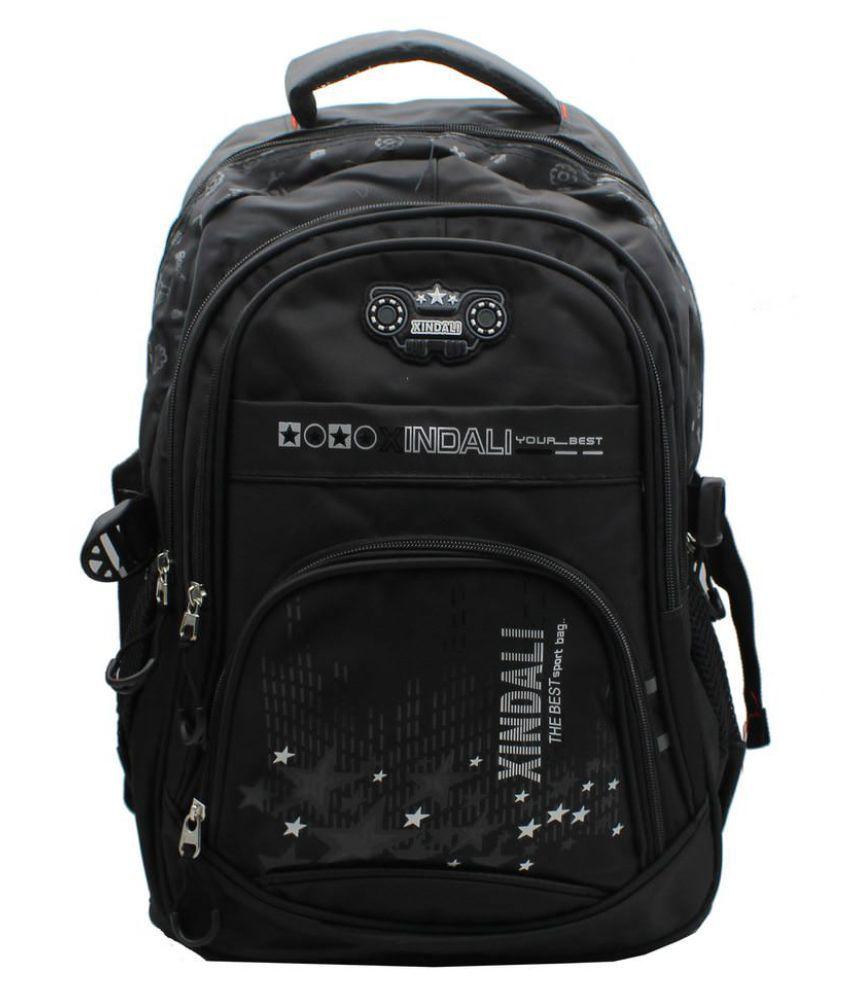 cb179df7bd3 Trendy Black Synthetic School Bag - Buy Trendy Black Synthetic School Bag  Online at Low Price - Snapdeal